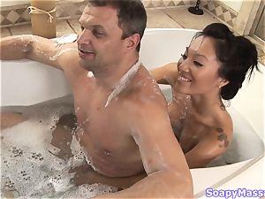 japanese beauty Asa Akira as the Soapy rubdown Parlour