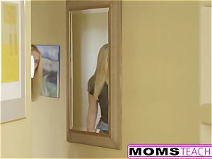 MomsTeachSex - first Time three way Is With Step mother