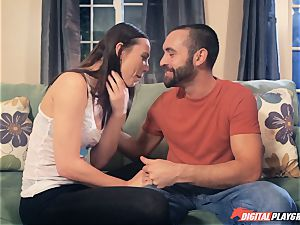 Aidra Fox fucking her bf in the mansion