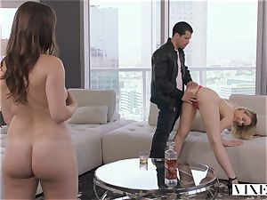 VIXEN horny assistant Can't Hold Back Anymore In amazing threeway
