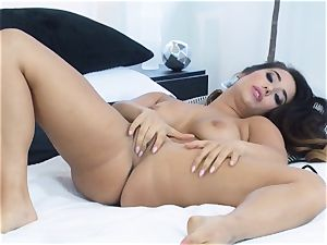 Eva Lovia frolicking with her gentle moist coochie