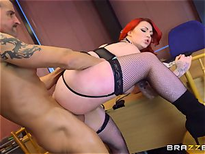 big-titted college girl Harmony Reigns shafted by the dean