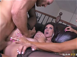 four-way tear up with Kendra eagerness and her stud wives