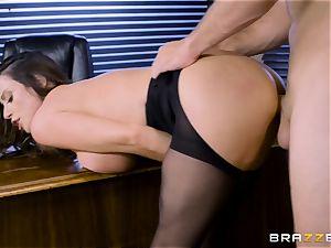 Office buxom honey Ariella Ferrera takes large shaft