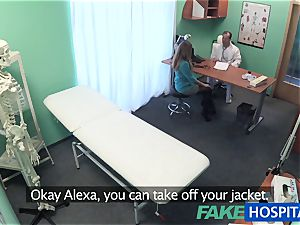 FakeHospital ample boobs babe has a back problem