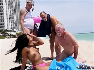blondie gang-fuck senior first-ever time Staycation with a mexican sweetie