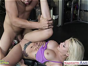 defined Marsha May has the skills to satisfy massive man meat well
