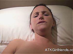 pov with hope Howell in Singapore concludes with internal ejaculation