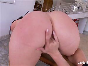 huge-titted sex industry star Jayden fucks her super-fucking-hot towheaded gf