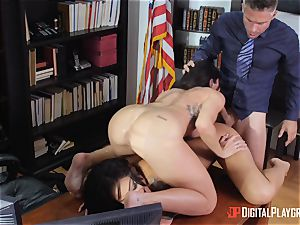 antsy beavers Kissa and stunner bend over for Micks schlong