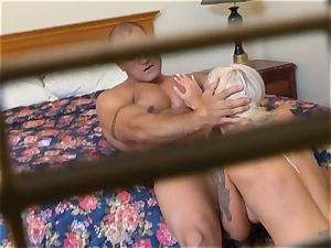 nasty Nina Elle nails her man at the motel