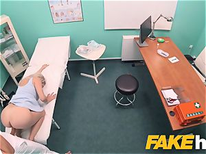 faux medical center quick screwing gives light-haired thick boobies brit