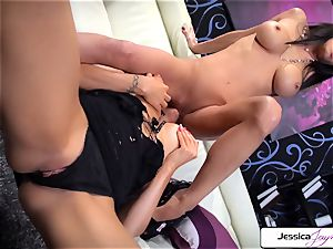 Jessica Jaymes likes to screw Romi Rain appetizing muff