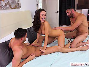super hot Lana Rhoades entertains the men with her sugary-sweet bra-stuffers