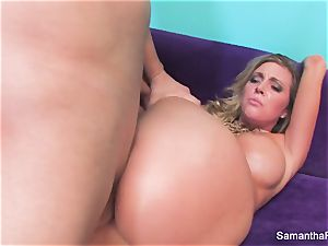 Samantha Saint gets her taut rosy cunny pounded
