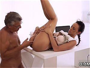 teen shows snatch up close finally she s got her boss man meat