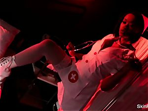 super warm nurse flesh Diamond gives a mind-blowing taunt