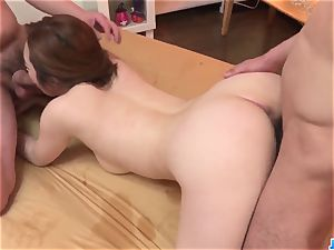 Doremi Miyamoto spunky intercourse With two cubs