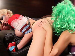 Whorley Quinn Leya gets romped rigid by She Joker Nadia