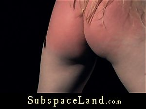 sub chick blondie pleasured and disciplined in obedience