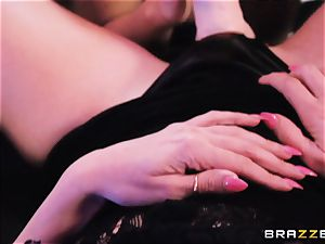 milf Rachel Starr licks out nubile honey Dillion Harper in a unclothe club