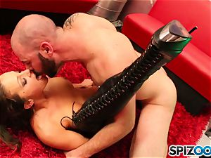 Spizoo - Abigail Mac deepthroat and poke a enormous stiffy in Space