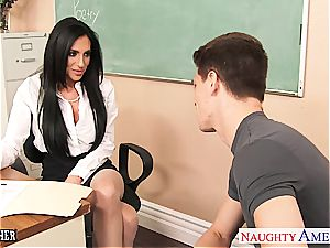 naughty schoolteacher Jaclyn gobbled out and drilled rock hard in class