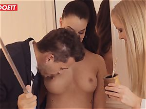 LETSDOEIT - Single dark-haired Is plumbed By ultra-kinky Swingers