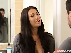 Eva Lovia almost catches Christiana Cinn banging with her spouse