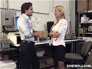 SheWillCheat - huge-boobed milf boss nails fresh worker
