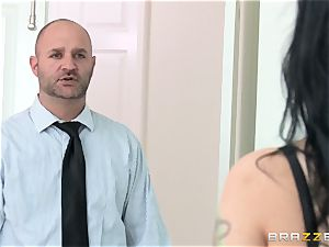 cheating wife Katrina Jade romps ebony man-meat