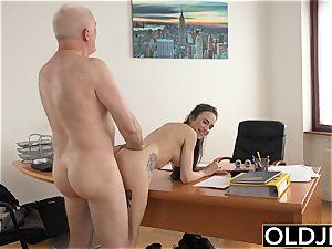 female romped by elder dude Office gargle dt