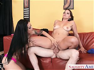 gorgeous Katrina Jade and Kayla West sharing a shaft