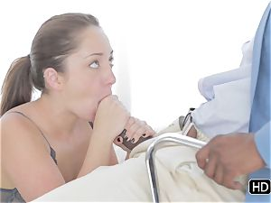 Remy Lacroix pounded in her rump by a ebony knob