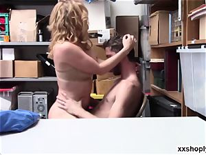 scorching towheaded LP Officer Krissy Lynn gets pound by a Shoplifter