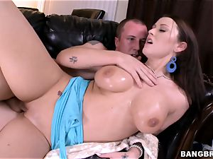 giant breasted Alexis mercy rammed in her cock-squeezing pussylips
