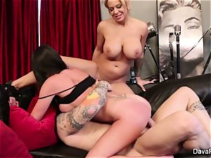 point of view sucking and plowing with Dava Foxx and Alyssa Lynn