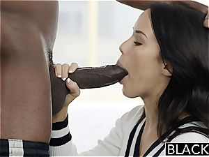 BLACKED Megan Rains very first practice With immense black rod Part 1