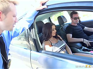 Keisha Grey getting romped throughout the car
