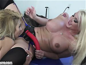 Mature wifey Leya Falcon punishes her husband's domme