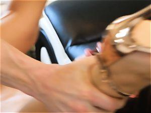 Lana Rhoades slips that rock-hard man-meat into her super hot minge