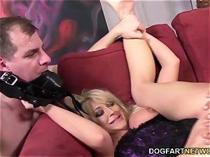 cheating slut Leya Falcon takes ass fucking pounding