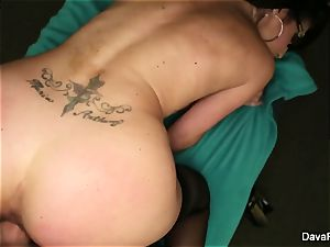 black-haired sweetheart Dava gets fucked pov style