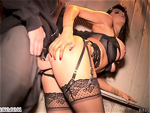 Romi Rain - astounding steaming amateur pornography in the street