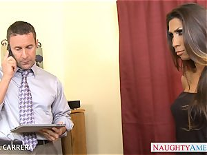 tatted Kayla Carrera takes a ample man-meat