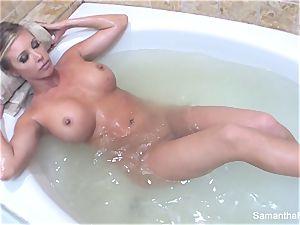 Samantha's sensuous bathtub doll on woman fantasy
