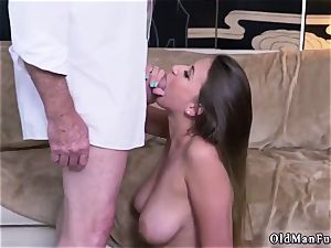 Latino daddy and bi-curious cuckold man first time Ivy makes an impression with her enormous fun bags and rump