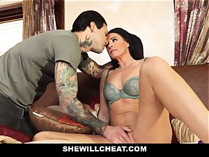 SheWillCheat - Stepmom Caught Using faux-cock