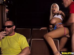 Cinema manstick deep-throating big-titted Bridgette B