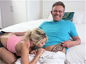 Behind the episodes puss packed by stranger with Marsha May